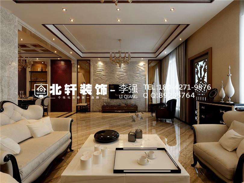 盤錦萬達華府140平歐式風格設計師李開鋒
