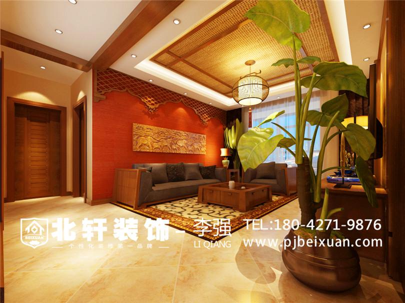东南亚风格继承了自然,健康和休闲的特质,大到空间打造,小到细节装饰,都体现了对自然的尊重,和对手工艺制作的崇尚。东南亚园林对建筑材料的使用也很有代表性,如黄木,青石板,鹅卵石,麻石等,旨在接近真正的大自然。东南亚风格主要以宗教色彩浓郁的神色系为主,如深棕色,黑色,褐色,金色等,令人感觉沉稳大气,同时还有鲜艳的陶红和庙黄色等。