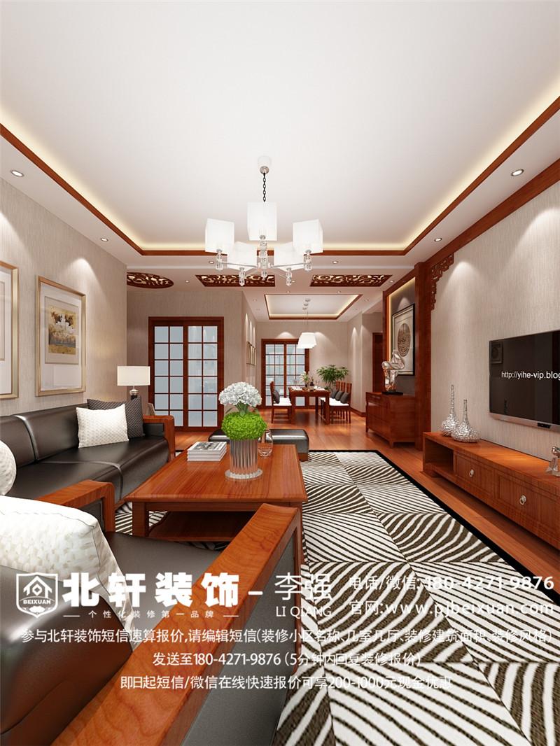 盤錦馨怡和129平中式風格激情網效果圖