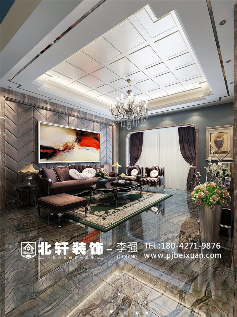 盤錦東方銀座別墅260平新古典風格別墅激情網效果圖