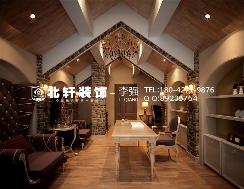 盤錦美的城275平聯排別墅美式風格別墅激情網效果圖