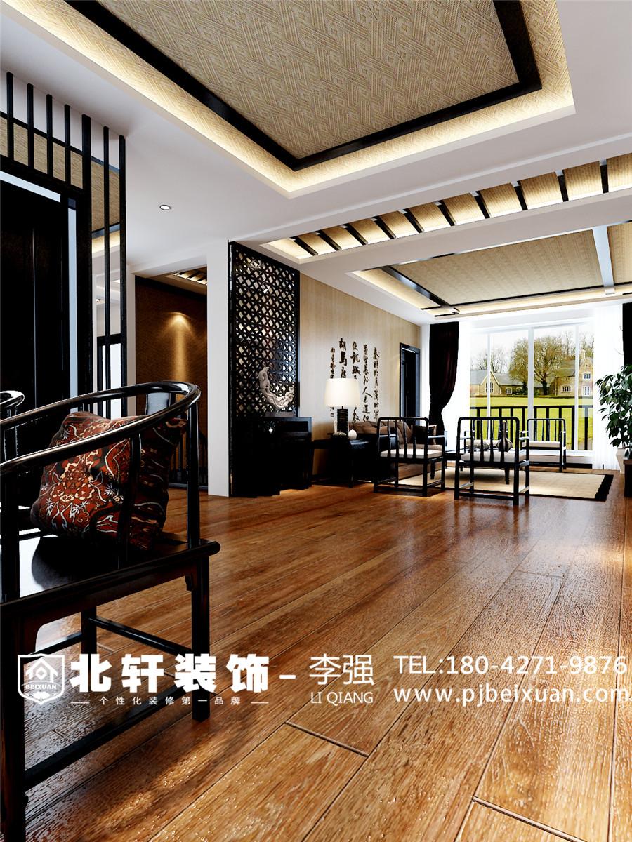 盤錦愛頓國際城別墅240平新中式風格激情網效果圖