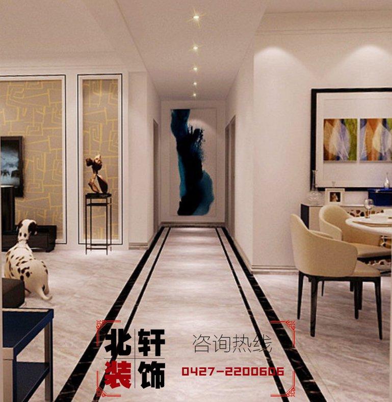 盤錦·霞光府·壹號院159平現代極簡激情網效果圖3過廊
